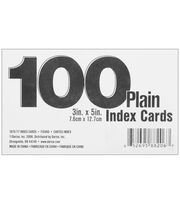 "Index Cards 3""X5"" 100/Pk-Blank White, , hi-res"