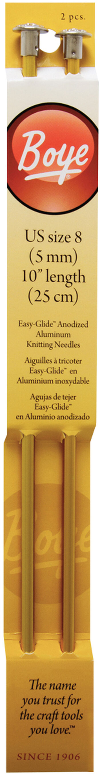 "Single Point Aluminum Knitting Needles 10""-Size 8/5mm"