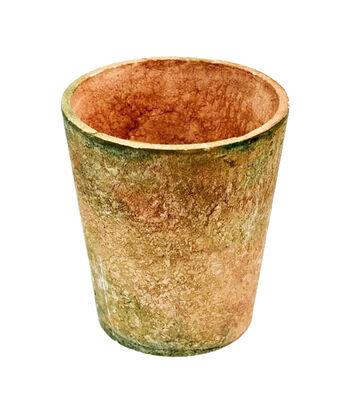 Fresh Picked Spring Large Terra Cotta Pot-Green Tint