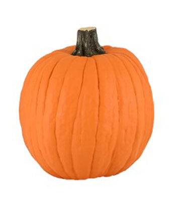 Fun-kins™ Halloween 12'' Artificial Carvable Pumpkin-Orange