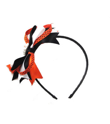 Maker's Halloween Boo & Ghost Headband with Ribbons