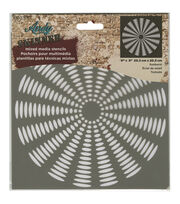DecoArt® Andy Skinner Mixed Media 8''x8'' Stencil-Sunburst, , hi-res