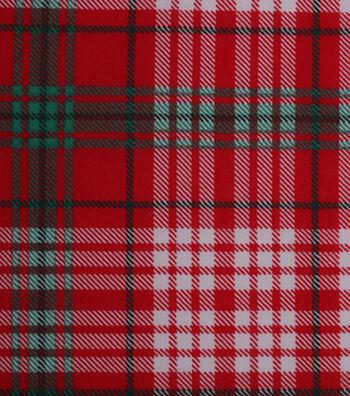 Christmas Cotton Fabric 43''-Holiday Plaid
