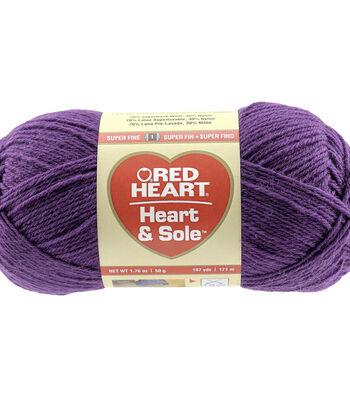 Purple-yarn Heart & Sole