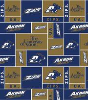"""University of Akron Zips Fleece Fabric 58""""-Block, , hi-res"""