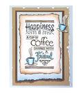 Wood Stamp- Shared Coffee