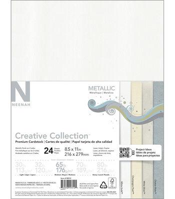 "Neenah Paper Metallic Cardstock 8.5""X11"" 24pk"