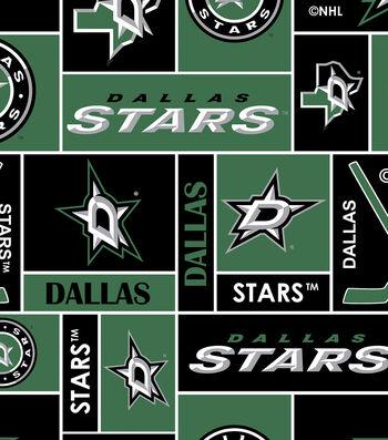 "Dallas Stars Fleece Fabric 60""-Black"