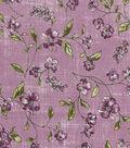 Vintage Cotton Fabric 43\u0022-Tossed Floral Vines