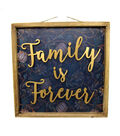 Fall Into Color 3D Family Forever Wood Wall Decor