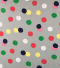 Doodles Collection Interlock Fabric-Interlock Big Dots Gray