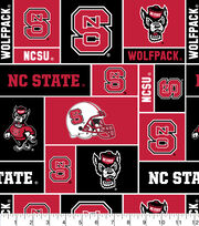 "North Carolina State Wolfpack Fleece Fabric 58""-Block, , hi-res"