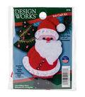 Design Works Christmas 3\u0027\u0027x4\u0027\u0027 Santa Ornament Felt Craft Kit