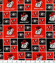 "University of Georgia Bull Dogs Cotton Fabric 43""-Block, , hi-res"
