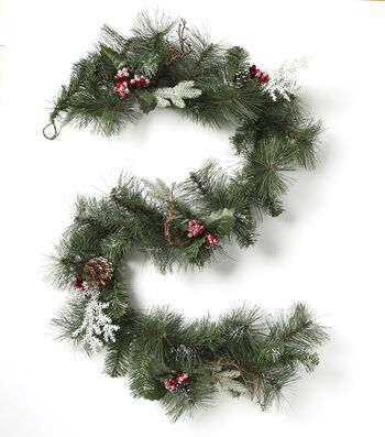 Blooming Holiday 66'' Berry, Cedar Leaves, Pine & Pinecone Garland