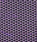 All That Glitters Fabric- Sequin Foil Organza Dewberry Tonal