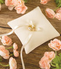 Save The Date™ Velvour Ring Pillow-Ivory