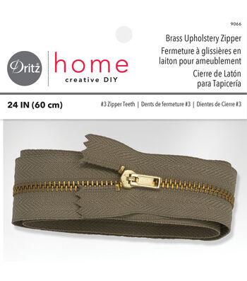 """Dritz Home Brass Zipper Chain 0.56""""x24"""""""