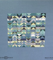 Square By Design® Woven Fabric 25''-Blues & Greens Chevron, , hi-res