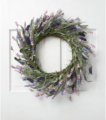 Fresh Picked Spring 22'' Lavender & Wildflower Wreath
