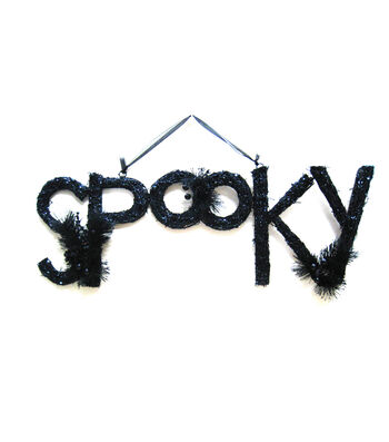 Maker's Halloween Rattan Wall Decor-''Spooky''