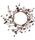 Blooming Holiday Berry & Pinecone Mini Wreath-Silver