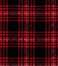 Snuggle Flannel Fabric 42\u0022-Hadley Plaid Red