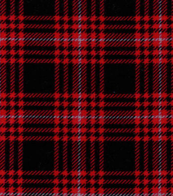 "Snuggle Flannel Fabric 42""-Hadley Plaid Red"
