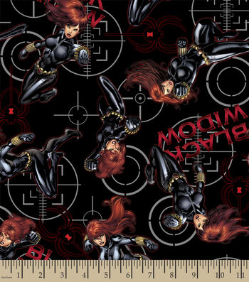 "Marvel Comics™ Cotton Fabric 43""-Black Widow Power"