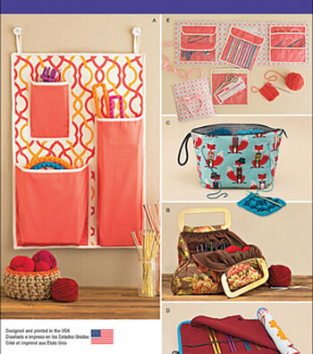 Simplicity Patterns Us1079Os-Simplicity Knitting And Crochet Storage Accessories-One Size