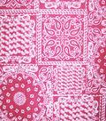 Home Essentials Lightweight Decor Fabric 45\u0022-On The Farm Bandana Red