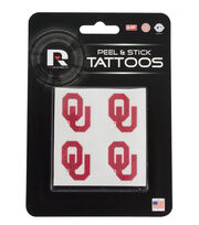 University of Oklahoma Peel & Stick Tattoos, , hi-res