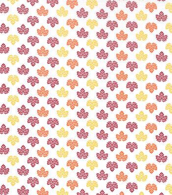 "Holiday Showcase™ Harvest Cotton Fabric 43""-Mini Leaves Multi"