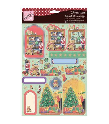 Anita's A4 Foiled Decoupage Sheet-Toy Shelf