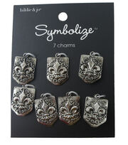 hildie & jo™ Symbolize 7 Pack Fleur Di Lis Silver Charms, , hi-res