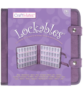 Craft Mates Lockables Large Organizer Case-Purple Ultrasuede