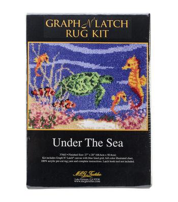 "Latch Hook Kit 27""X20""-Under The Sea"