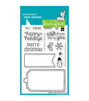 "Lawn Fawn Clear Stamps 4""X6""-Winter Gifts, , hi-res"