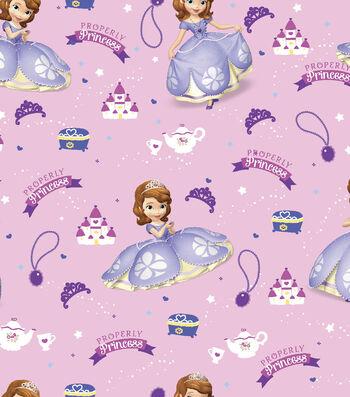 Disney® Sofia The First Satin Fabric 57''-Properly Princess
