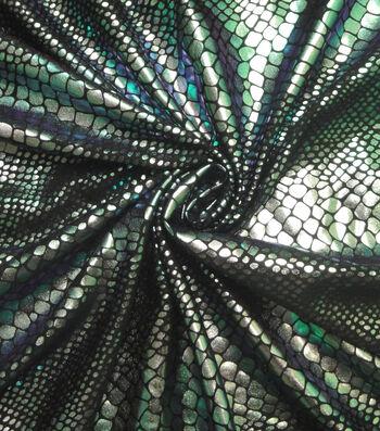 "Cosplay by Yaya Han Stretch Fabric 58""-Lizard Oil Slick Green"