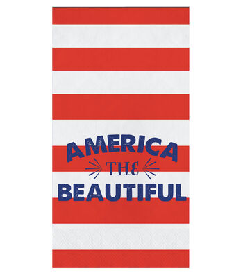 Americana Patriotic 16 Pack Paper Guest Towel-America the Beautiful