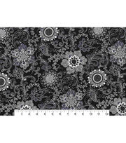 "Keepsake Calico™ Cotton Fabric 43""-Floral Medallion Gray, , hi-res"