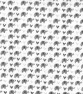 Nursery Cotton Swaddle Fabric 44\u0022-Grey Elephants
