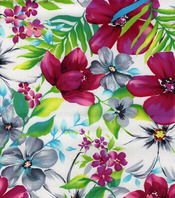 "Tropical Shirting Fabric 43""-Watercolor"