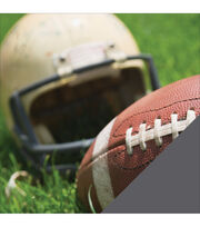American Crafts Sport Football & Helmet Photo Double-Sided Cardstock, , hi-res