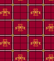 "Iowa State University Cyclones Flannel Fabric 42""-Plaid, , hi-res"