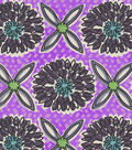Snuggle Flannel Fabric 42\u0027\u0027-Purple Floral