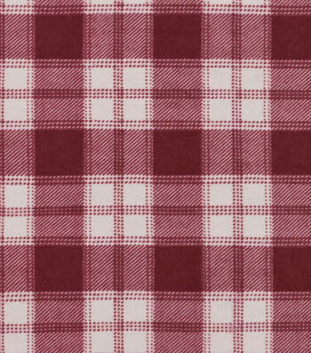 """Snuggle Flannel Fabric 42""""-Plaid Red"""