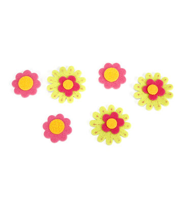 Darice® Felties 16 pk Felt Stickers-Crazy Daisies