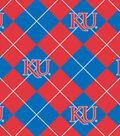 University of Kansas Jayhawks Fleece Fabric 58\u0022-Argyle